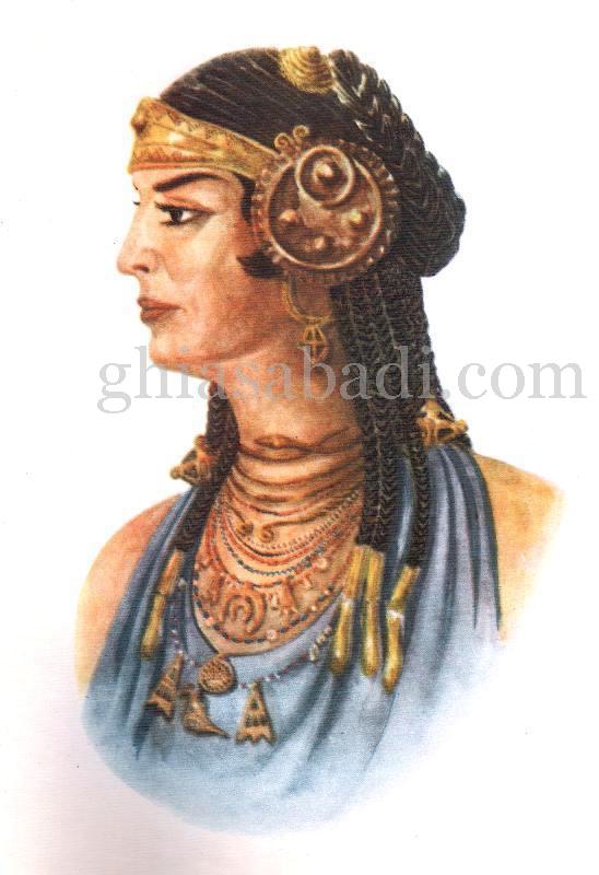 تصویر مستند و بازسازی شده زن قفقازی باستان